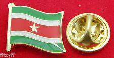Suriname Flag Lapel Hat Cap Tie Pin Badge Republiek Suriname Souvenir Brooch