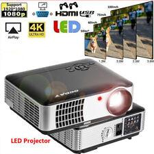 3D Full HD 1080P LED LCD Projector Cinema HDMI Room Home Theater AV HDMI USB HP
