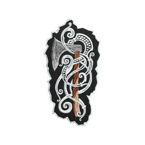 Scandinavian Viking Axe Emblem Embroidered Sew-on / Iron-on / Hook & Loop Patch