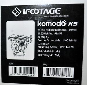 iFootage Komodo K5 Fluid Head, 11 lbs Capacity FREE SHIPPING