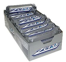 Zero Candy Bar 24ct Caramel Peanut Nougat Covered w/ White Fudge FREE SHIPPING