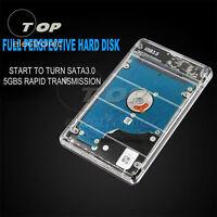 "2.5"" inch SATA USB 3.0 HDD Hard Drive External Enclosure SSD Disk Box Case Cover"