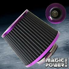 "UNIVERSAL 3"" INCH (76MM) JDM SHORT RAM/TURBO/COLD AIR FLOW INTAKE FILTER PURPLE"