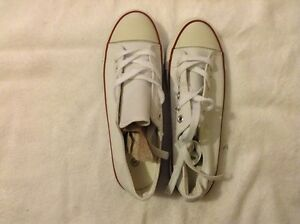White Canvas Trainers, Size 3Uk, Brand New In Box!