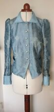 Unique Blue short jacket Steampunk Victoriana Bohemian Costume 8-10