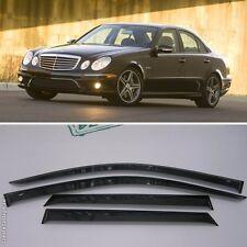 For Mercedes-Benz E W211 02-09 Window Side Visors Sun Rain Guard Vent Deflectors