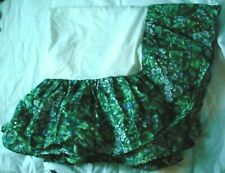Laura Ashley Bramble Berry Bed Skirt Dust Ruffle Queen Green Floral Excellent!
