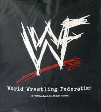New WWF World Wrestling Federation ATTITUDE Black Nylon Zip Tote Bag RARE VHTF!
