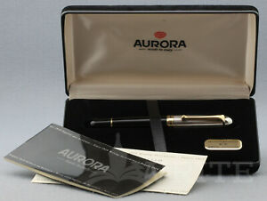 NEW !  FOUNTAIN PEN AURORA 88 BIG (mod.803) STERLING SILVER CAP  NIB M