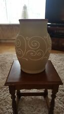 Denby Ferndale 32cm  Light Green Vase Raised Decoration Vintage Retro Large