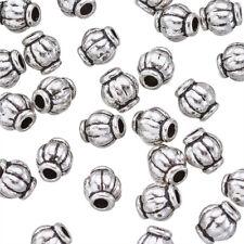 100 pcs Antique Silver Tibetan Silver Barrel Spacer Beads DIY Design 4mm hole1mm