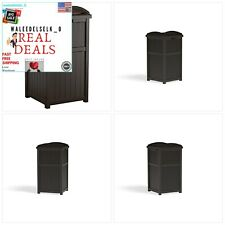 New Big 33 Gallon Can Resin Outdoor Trash Hideaway with Lid+Backyard+Deck+Patio