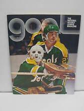 1975 GOAL Program * California Golden Seals @ LA Kings * Rogie Vachon Joe Namath