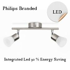 PHILIPS 2 BAR LED SPOTLIGHT 2 SPOT MATT CHROME FINISH Wall or Ceiling Mount