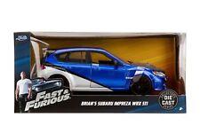 Fast & Furious Brian's Subaru Impreza WRX STI Diecast Car 1:24 Jada 7 inch Blue