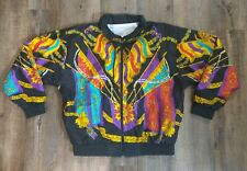 Dope Vintage 80s 90s Gold Chains Designer Inspired Nylon Windbreaker Size M