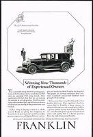1927 Original Vintage Franklin Sport Sedan Car Automobile Art Print Ad