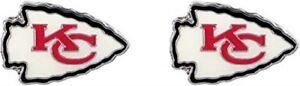 Kansas City Chiefs Football Team Logo NFL Silver Post Stud Earrings Set