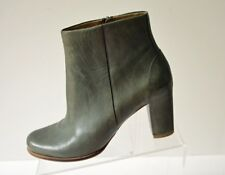 ECCO Womens 40/ US 9-9.5 Olive Green Leather Ankle Boots