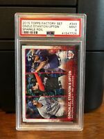 2015 Topps Sparkle Foil Stanton Baseball Card #349 PSA 9 POP 1 None Higher