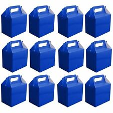 10 Blue Childrens Party Lunch Boxes Takeaway Birthday Wedding Cake Food Bags