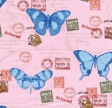 Klebefolie - Möbelfolie Rosa Schmetterlinge Dekorfolie - 45 cm x 200 cm Folie