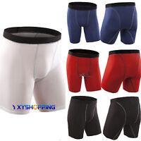 Men's Sports GYM Compression Under Base Layer Shorts Pants Athletic Leggings