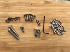 Complete screw set for Rickenbacker 4001 4003 bass - stainless & easy intonation