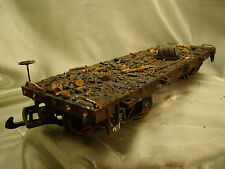 Unloaded Logging Car - custom weathered - brand new car - G scale