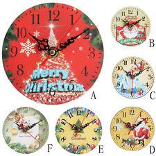 Silent Sweep Weihnachtsuhr Bell Desk Kreative Digitale Wanduhr Wall Clock Dekor