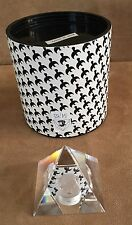 Asfour Crystal King Tut Pyramid etched Diamond Crystal paperweight new Egyptian