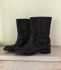 DKNY Women's Black Moto Boots Size 7 1/2
