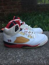 "Air Jordan Retro 5 Fire Red ""Black Tongue"" 2006 Size 12 OG"