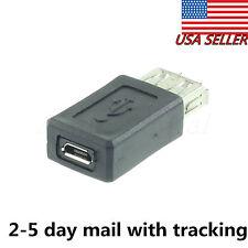 USB 2.0 A Female to Micro USB B 5 Pin Female Data Adapter Convertor-USA SHIPPER!