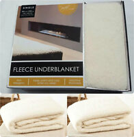 LUXURY NEW  MATTRESS PROTECTOR FLEECE UNDER BLANKET EXTRA DEEP FITTED BED COVER