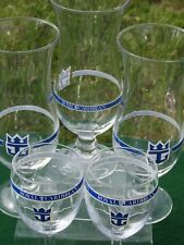 Lot 5 Vintage Royal Caribbean Cruise Logo Souvenir Hurricane Wine Glasses