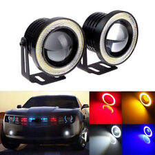 "2X 3.5"" COB LED Fog Light Projector Car Angel Eyes Halo Ring DRL Lamp Headlight"