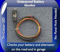 LED Motorcycle Battery Alternator Charge monitor level indicator warning bike G