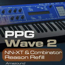 WALDORF PPG WAVE REASON REFILL 256 COMBINATOR & NNXT PATCHES 2048 SAMPLES 24BIT