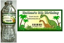 20 DINOSAUR BIRTHDAY PARTY FAVORS ~ WATER BOTTLE LABELS