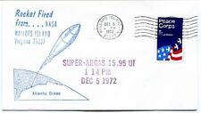 1972 Wallops Island ROCKET FIRED Super Arcas 15.95 UI WFF Goddard Base NASA