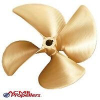 """Acme 14.5 x 14.25 Inboard Propeller Right Hand Nibral .105 cup 1 1/8"""" 4 Blade"""