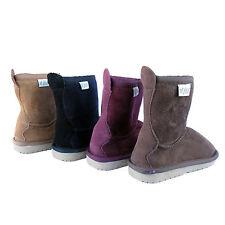 Kids Winter Boots Children Warm Winter Boots Charcoal Chestnut Dark Brown Maroon