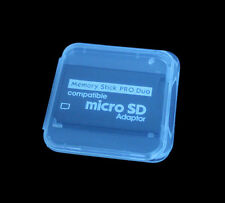 TF Micro SD SDHC to MS Memory Stick Pro Duo Adapter For PSP + Plastic Case