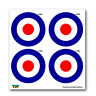 Royal Air Force RAF Insignia Roundel - SET of 4 - Window Stickers
