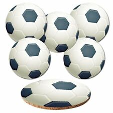 "Untersetzer 6-tlg.Set 'Fußball"" mit Korkrückseite - Bälle - Ball - Soccer"