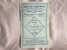 More details for ipswich town fc v torquay utd league iii south programme aug 25th 1948 well used