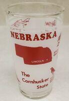 "Vintage State Souvenir Drinking Glass Nebraska ""The Cornhusker State"" 8 oz."