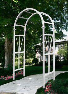 New England Arbors Decorative Vinyl DUBLIN Garden Patio Arch Trellis w/WARRANTY