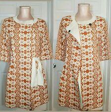 Rare Anthropologie Amalialad Coat Sweater Cardigan 3/4 sleeve Jacket Floral S